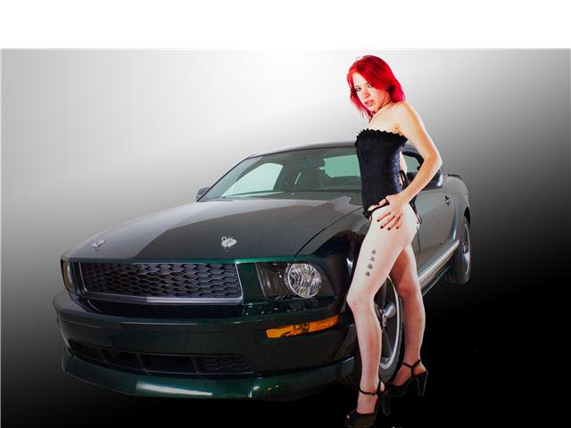 Female model photo shoot of Morbid Candi in PF Dark Studio