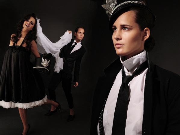 Female model photo shoot of Kristy Leibowitz and Jen McR in NYC, wardrobe styled by Katelyn Mooney, makeup by miss dnicole