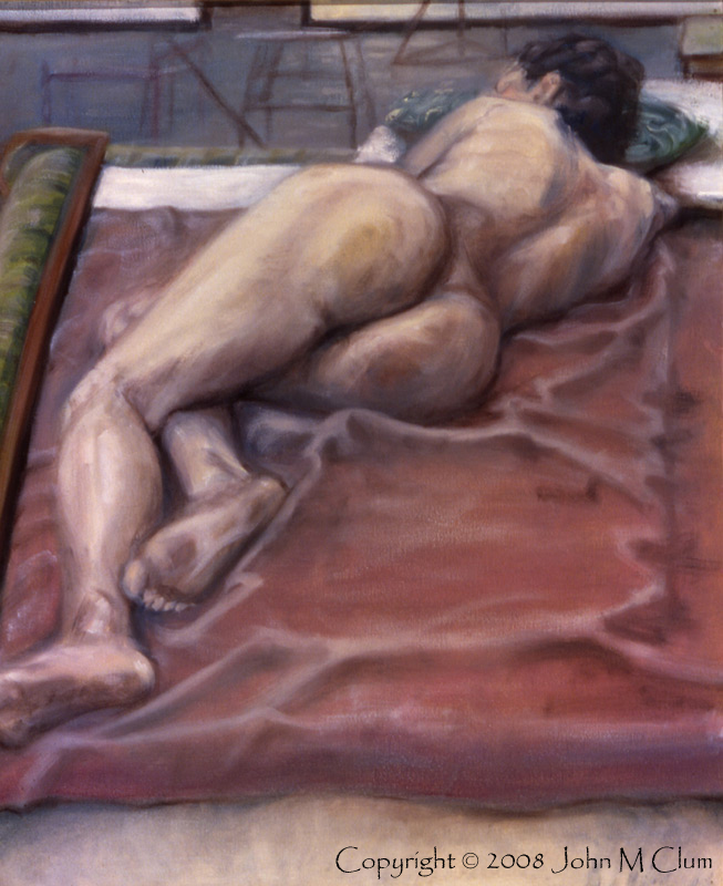 http://fineartamerica.com/featured/woman-on-blanket-john-clum.html Sep 23, 2008 John M Clum Woman on Blanket - Oil on Canvas