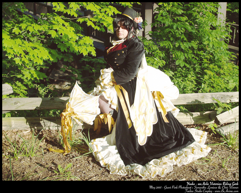 Grant Park, South Milwaukee, WI Sep 23, 2008 2007 Taeliac Studio Cosplay Myself, in my Yuuko from xxxHolic costume (Victorian Riding Garb)