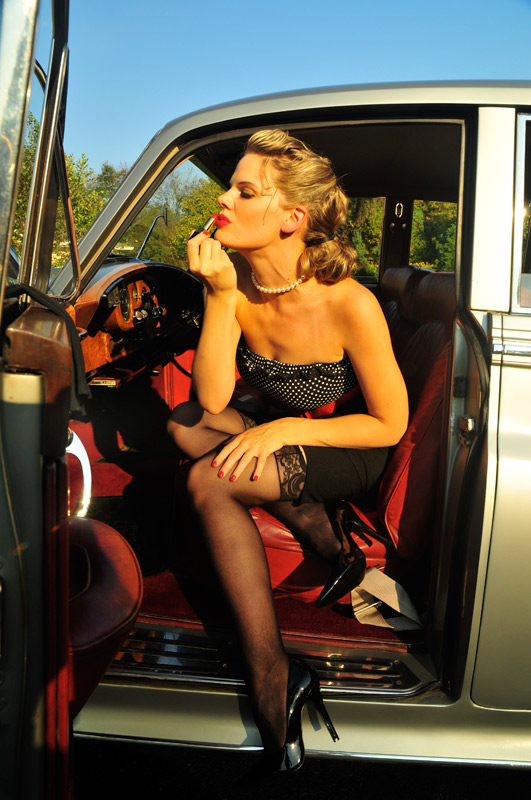 Millersville PA Sep 23, 2008 Christian Kieffer Rolls Royce Pinup shoot with Lindsay