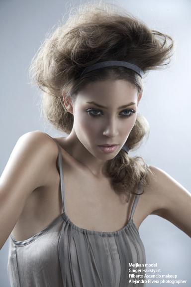 Female model photo shoot of Ginger Hairstylist
