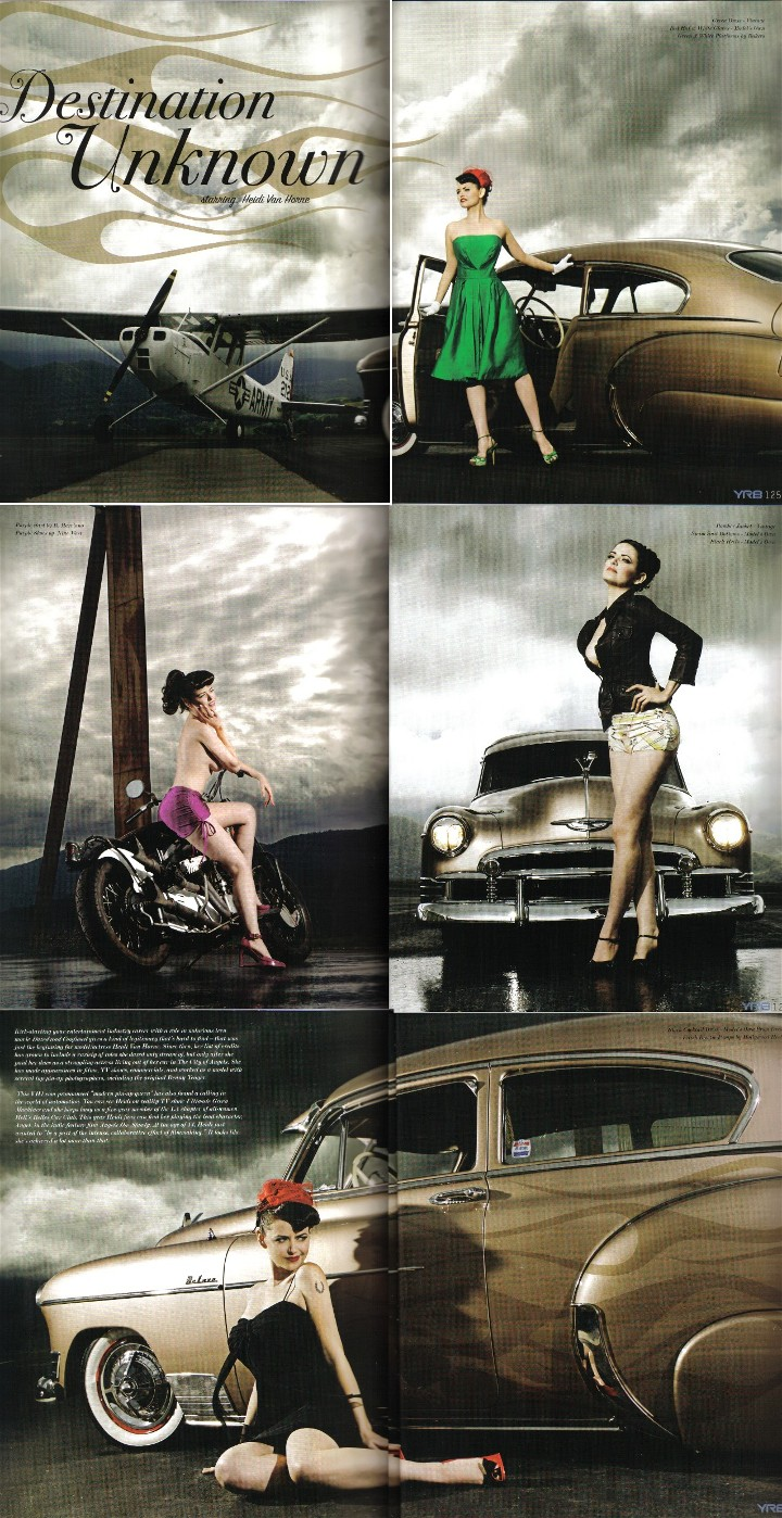 Santa Ynez, CA Sep 26, 2008 2008 Shannon Brooke / Heidi Van Horne 6 page fashion spread & feature about me in YRB magazine