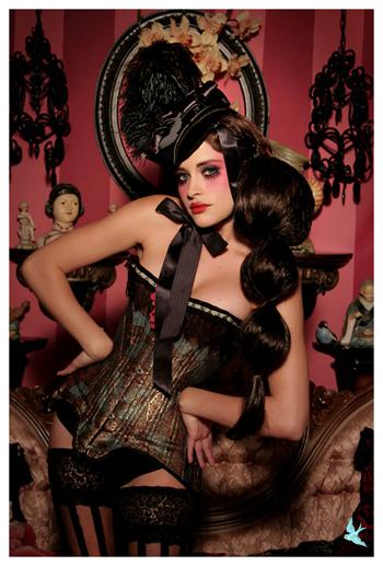 Sep 27, 2008 666 Photography Victorian Mini Mourning Tricorn - 666 Photography - Model Kayleigh - MUA Lisa Naeyeart