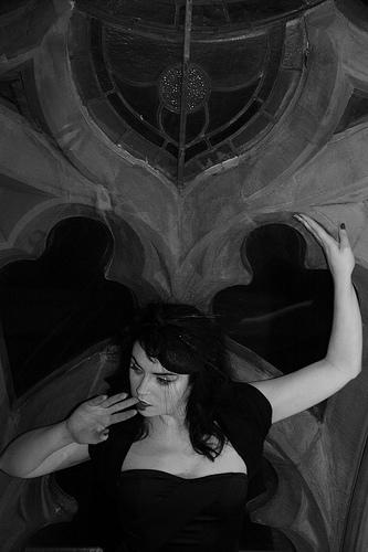 Female model photo shoot of Ms Harlot DeVille in Temple of Love