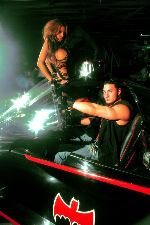 Sep 29, 2008 Gizel and I shooting with the Original Batmobile