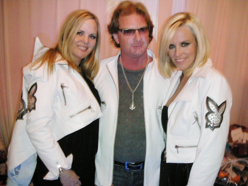 Playboy Mansion LA  Oct 06, 2008 West Coast Leather International , photo Kevin Sam Leather meets Lace charity event with Jenny McCarthy and Victoria Fuller and West Coast Leather designer Skip Pas