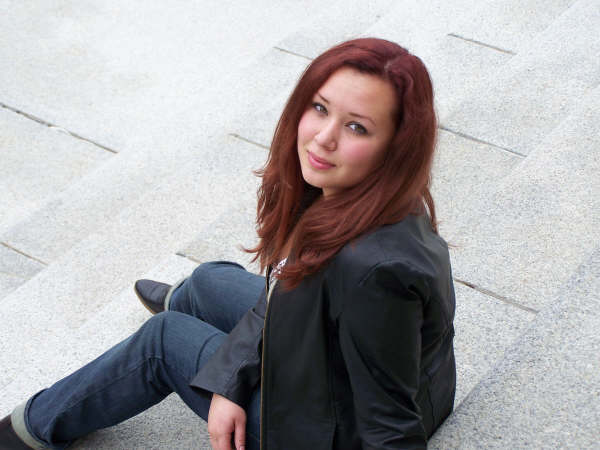 Female model photo shoot of Bixi Bite by marce fay