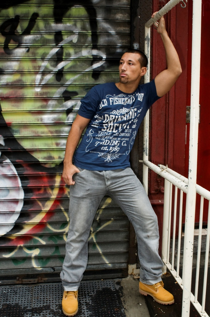 Male model photo shoot of Nicholas Palma in city