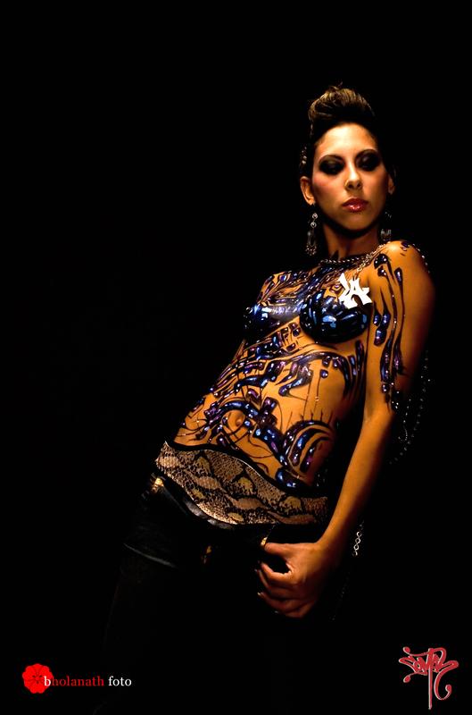 Los Angeles,CA Oct 07, 2008 Bholanath foto studio Wildstyle USC. W/ Custom LA Comah pendant.