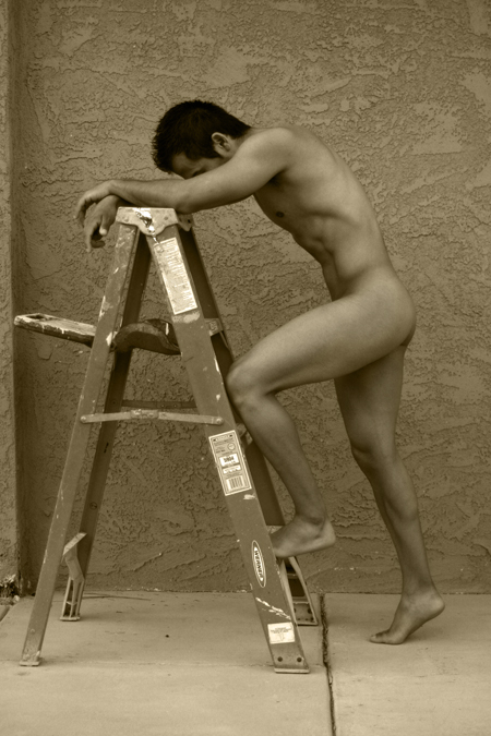 Palm Springs, CA Oct 07, 2008 Franz Rodriguez Photography 2008 Arnie on the Ladder