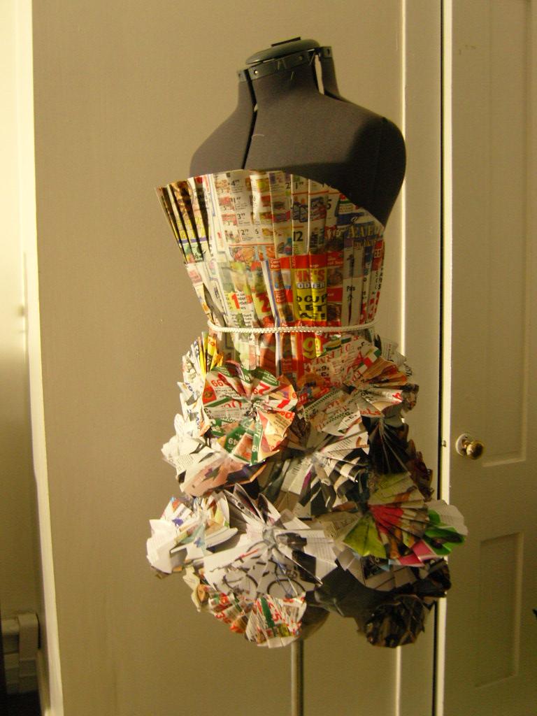 Boston Oct 12, 2008 (N/A) Newspaper dress