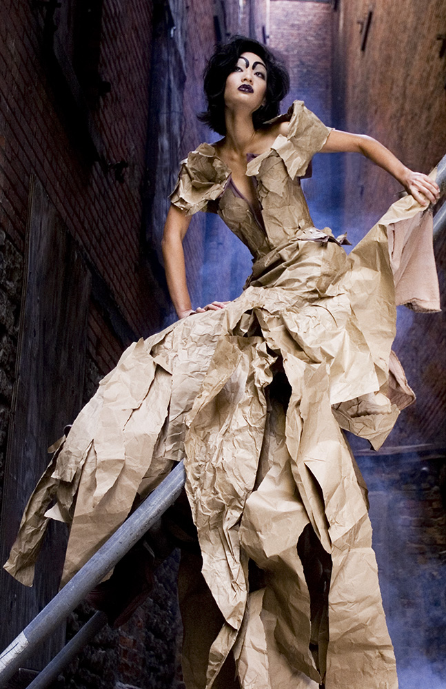 Rochester, NY Oct 12, 2008 Jenn Greene Haute Couture - Brown paper