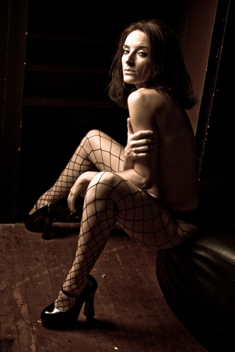 Female model photo shoot of Lethal Lisa by TF Photo in Clutch Cargo's - Pontiac, MI