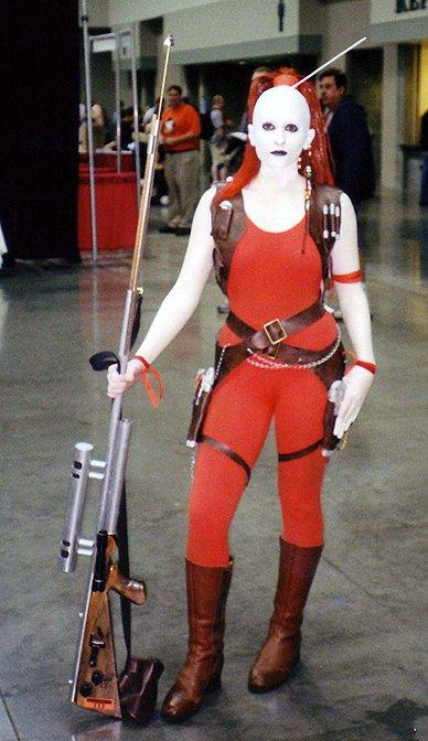 Indianapolis, IN Oct 14, 2008 Aurra Sing from Star Wars costume.