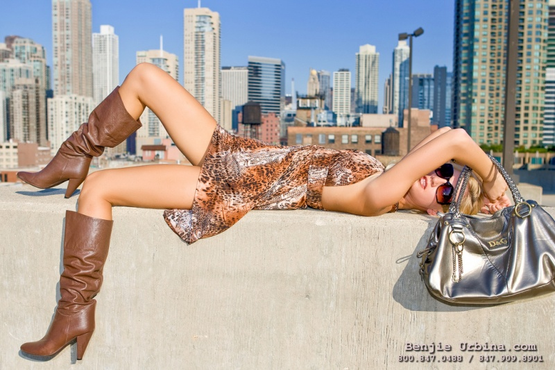 Male and Female model photo shoot of Benjamin Carlson and Lisa Komolova in Chicago, IL.