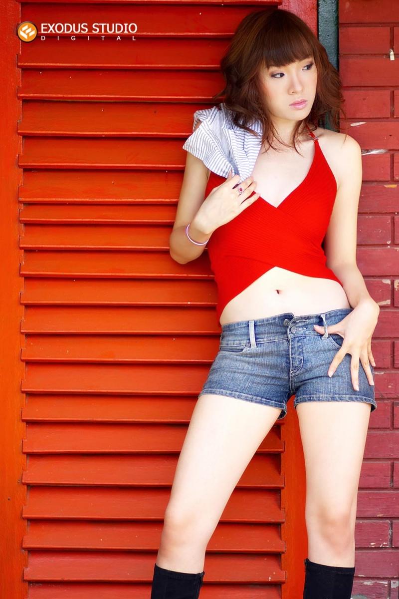 Female model photo shoot of Cecilia J in Milk Bar
