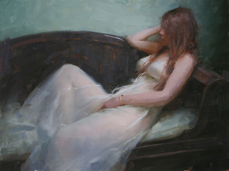 Oct 17, 2008 Jeremy Lipking Britni 12 x 16 oil on linen