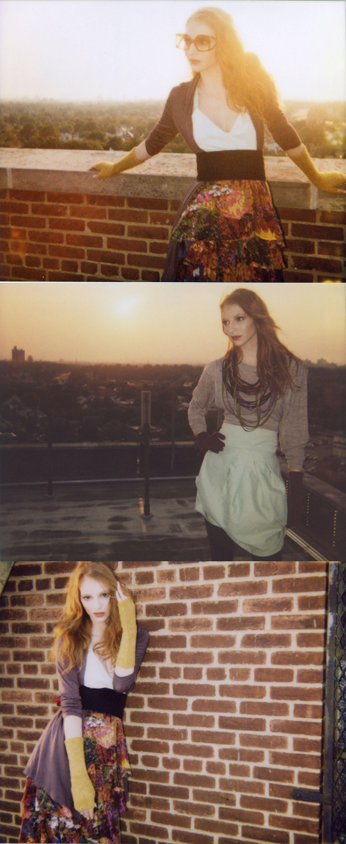 Queens Rooftop Oct 17, 2008 Photog: Connie Wang - very talented young girl! Great team all together! Sunset Polaroids