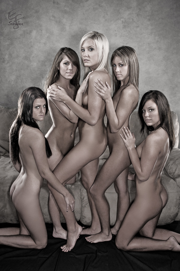 Male and Female model photo shoot of EJF Studios Nudes, Krystal Kelly, Ashton Valentine and Felicia Hubbard