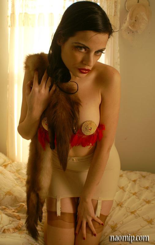 Female model photo shoot of Vivia Marche in My Boudoir