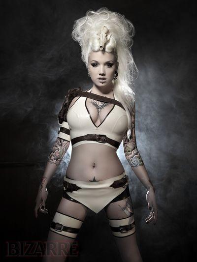 Female model photo shoot of Jane Doe Latex in London