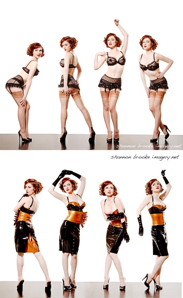 Female model photo shoot of Shannon Brooke and Angela Ryan in D & S Studios, makeup by Jennifer Corona