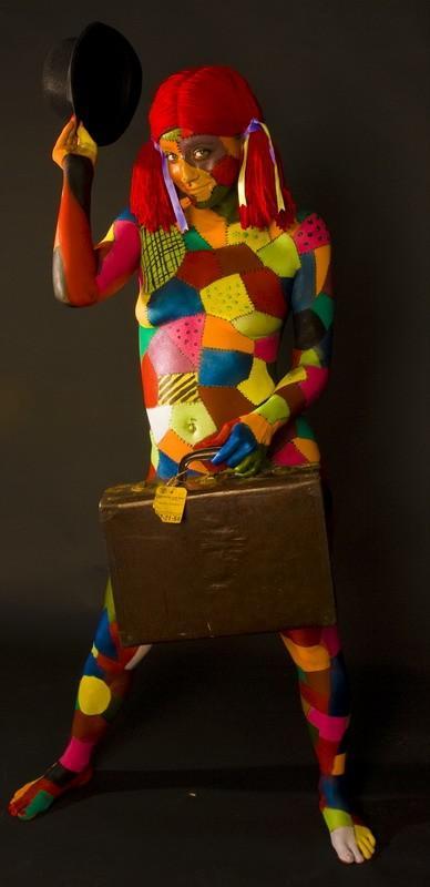 Vics studio/ Body paint!  Oct 22, 2008 Victor  Rag-Doll