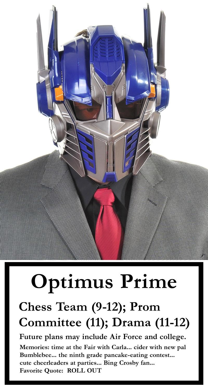 Oct 22, 2008 (c) Charlie Zimmerman Optimus Prime - Senior Photo