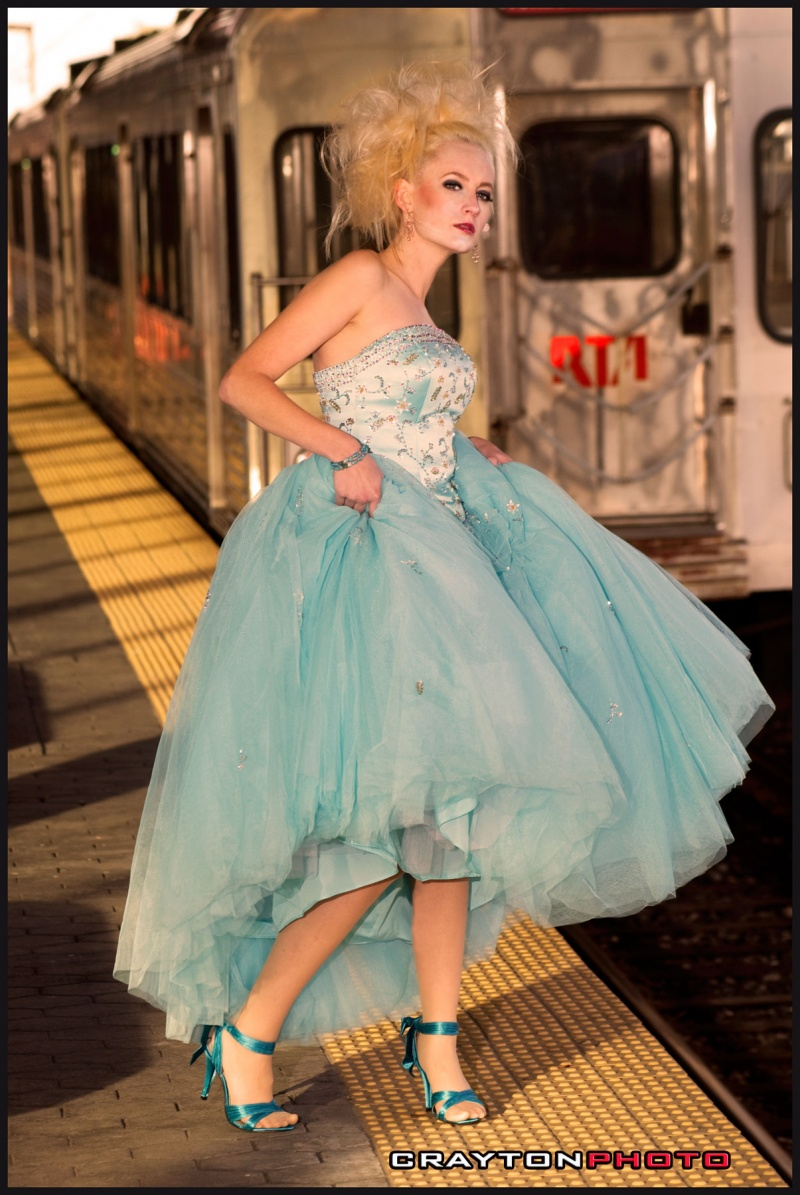 Cleveland RTA  Station Oct 22, 2008 Crayton Photo Cinderella - Wardrobe, Hair & Makeup by Denise