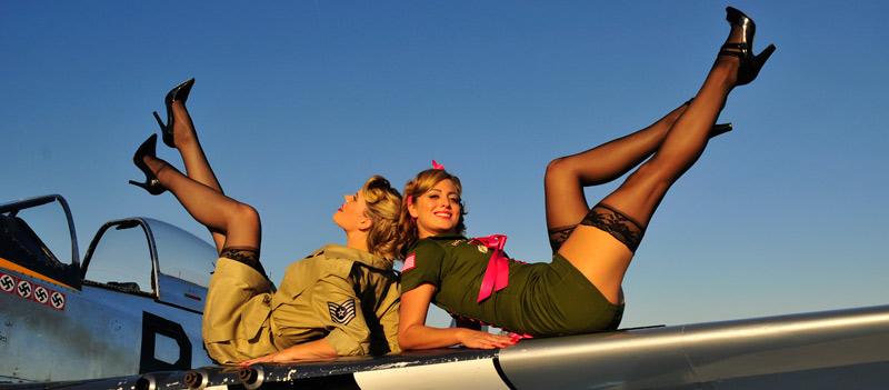 Oct 25, 2008 Christian Kieffer army pinups, P-51 Mustang - Lindsay & Tara
