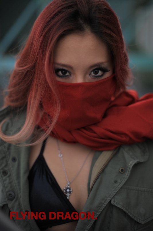shibaura, Tokyo Oct 28, 2008 Tatsu Dragon Ishiduka COPYRIGHT ALL RIGHTS RESERVED risa san(No MM) as model is a dancer of Hiphop, and she studies modern dance at the university. We used and took the photograph of a red cloth to emphasize her impressive eyes. 28th, October, 2008