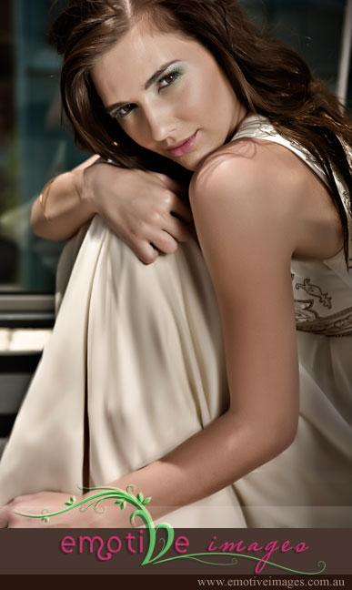Female model photo shoot of Danielle Bourke by Emotive Images in QUT Kelvin Grove, makeup by Kate Fide - Makeup Artist
