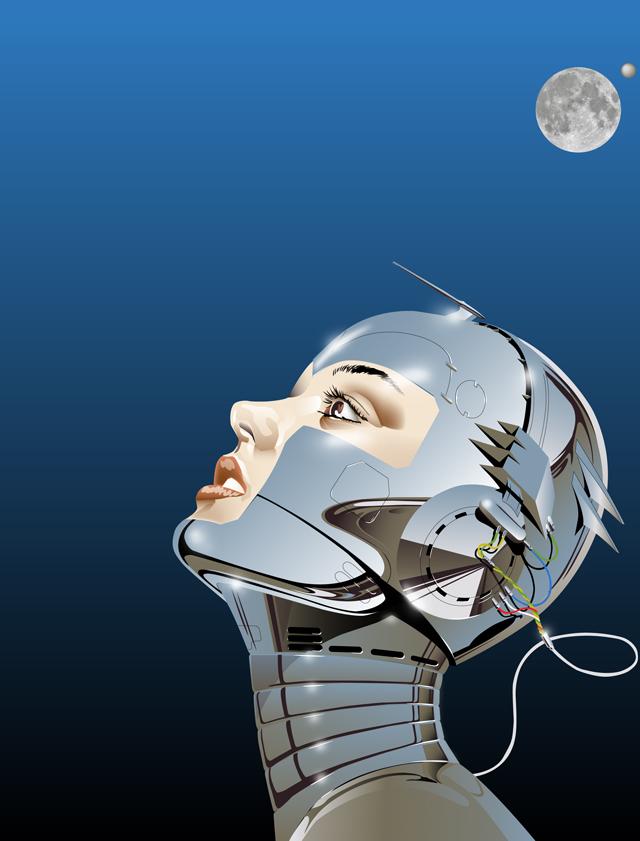 photoshop and illustrator work Oct 29, 2008 tribute to Sorayama A.I.