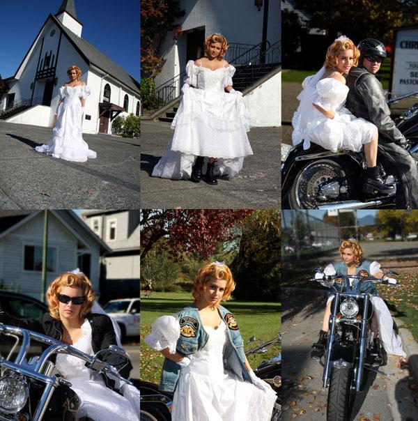 a church Oct 30, 2008 Camera_Bug Runaway Biker Bride