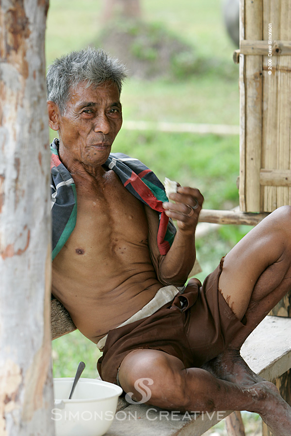 Along the Roadside, Philippines Oct 31, 2008 Copyright 2008 Dave Simonson Old Man in the Village