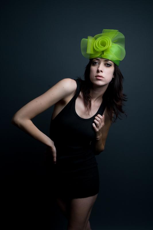 studio Nov 01, 2008 emspace hats; model and makeup: kelly III; styling: me