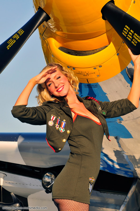 Nov 02, 2008 Christian Kieffer P-51 army pinup, Kelly Martin