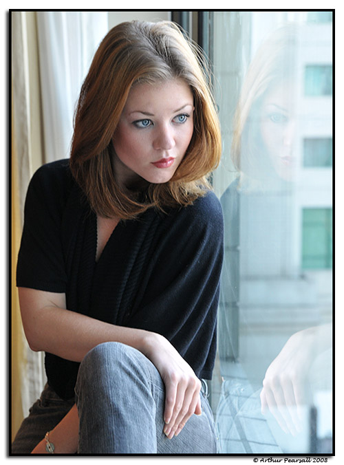 Female model photo shoot of Rebecca Lawrence in Beijing - Oct 2008