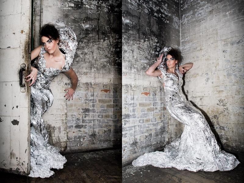 Rochester, NY Nov 04, 2008 Jenn Greene Haute Couture - Aluminum Foil - Emily Naehring