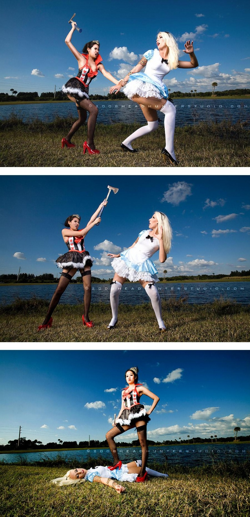 Female model photo shoot of Xana and Bunny Electric by H E A D H U N T E R in WONDERLAND~