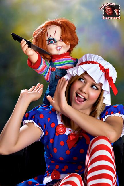 Pico Rivera CA Nov 07, 2008 DeliciousFotos Model Lizette Getting attacked By Chucky