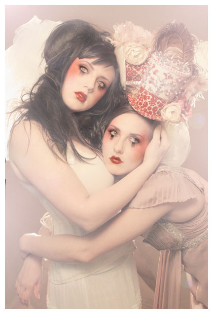 666 studios Nov 07, 2008 666photography Model: Lisa Naeyaert and Ali, MU Lisa, Hair/styling/hats: me