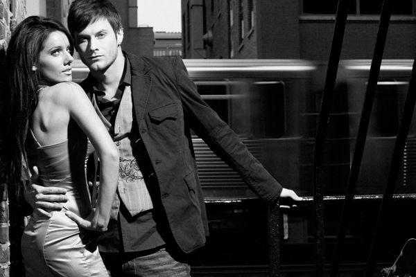 Male and Female model photo shoot of Lawrence Lau and Sky Naite in Chicago, IL