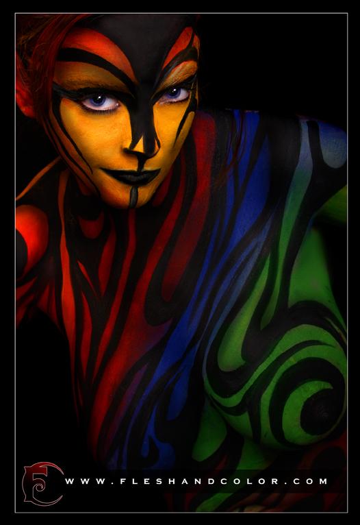 columbus ga Nov 10, 2008 2008 FleshandColor.com Body Painting With Reanna