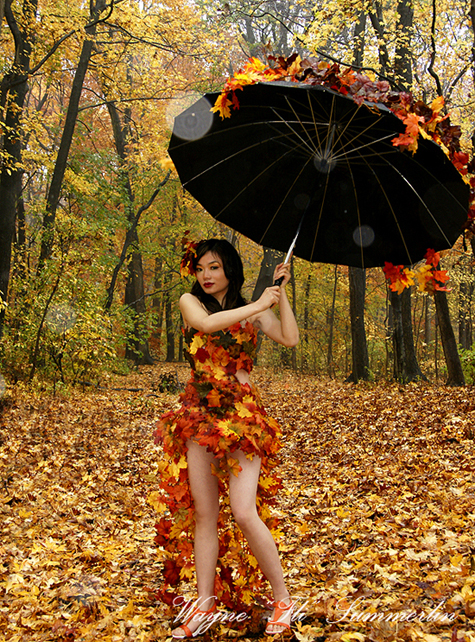 MUA : Narissa J Nov 11, 2008 Wayne FLI Summerlin 08 Lea Liu in the rain.  Its not easy being me.