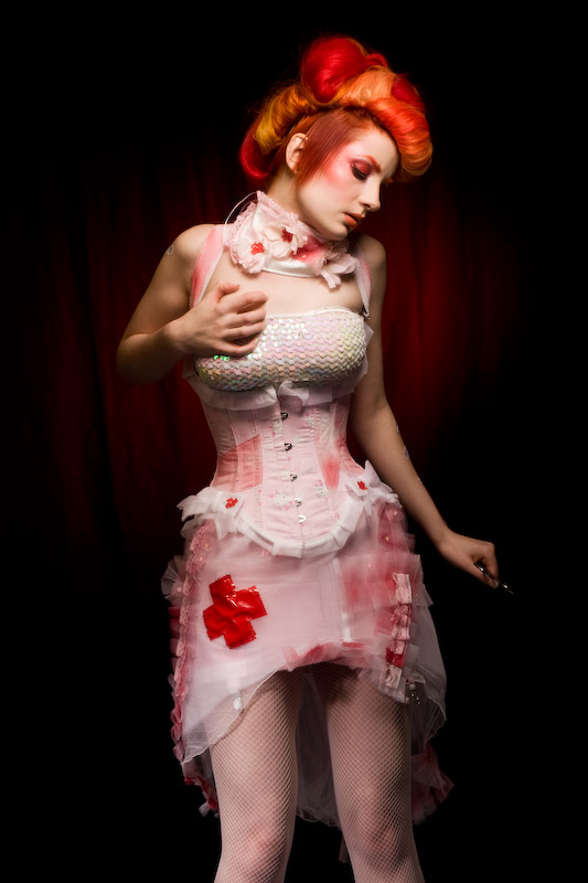 Nov 12, 2008 freyagushi x credits  medical couture doll - one off medical hello kitty corset