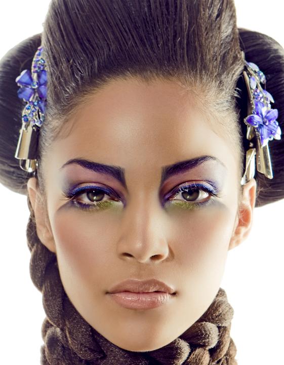 Female model photo shoot of Angelique Velez by Brian Heller, makeup by Jitka Kluglova