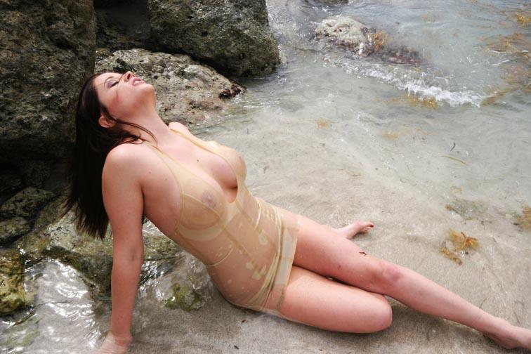Female model photo shoot of dreamland in south beach, florida