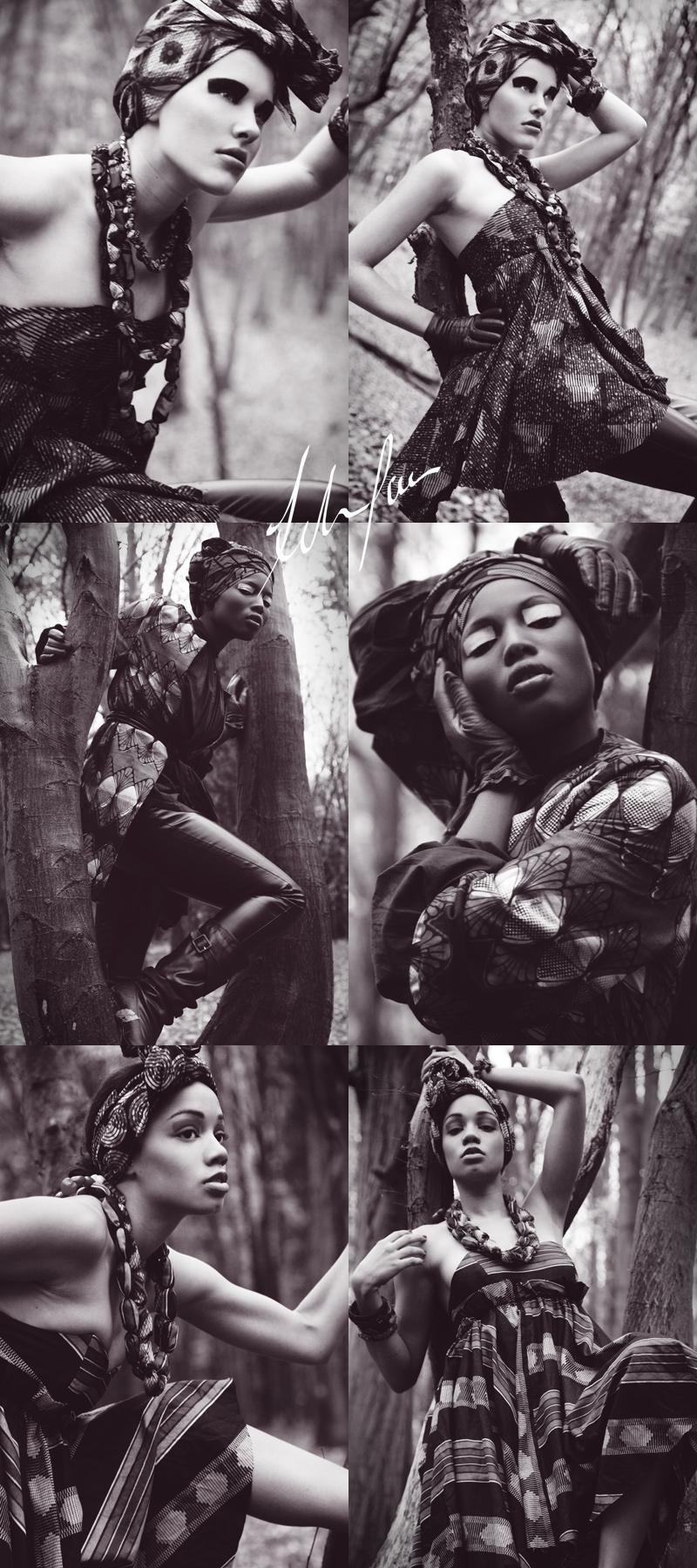 Female model photo shoot of Afro-chique, Sherene Mcnichol, Natasha Musson and Ms Lauren, makeup by sandra bermingham